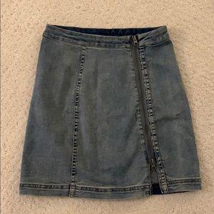Free People Modern Femme Zip Up Skirt